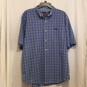 Chaps Men's short sleeve button down XXL plaid